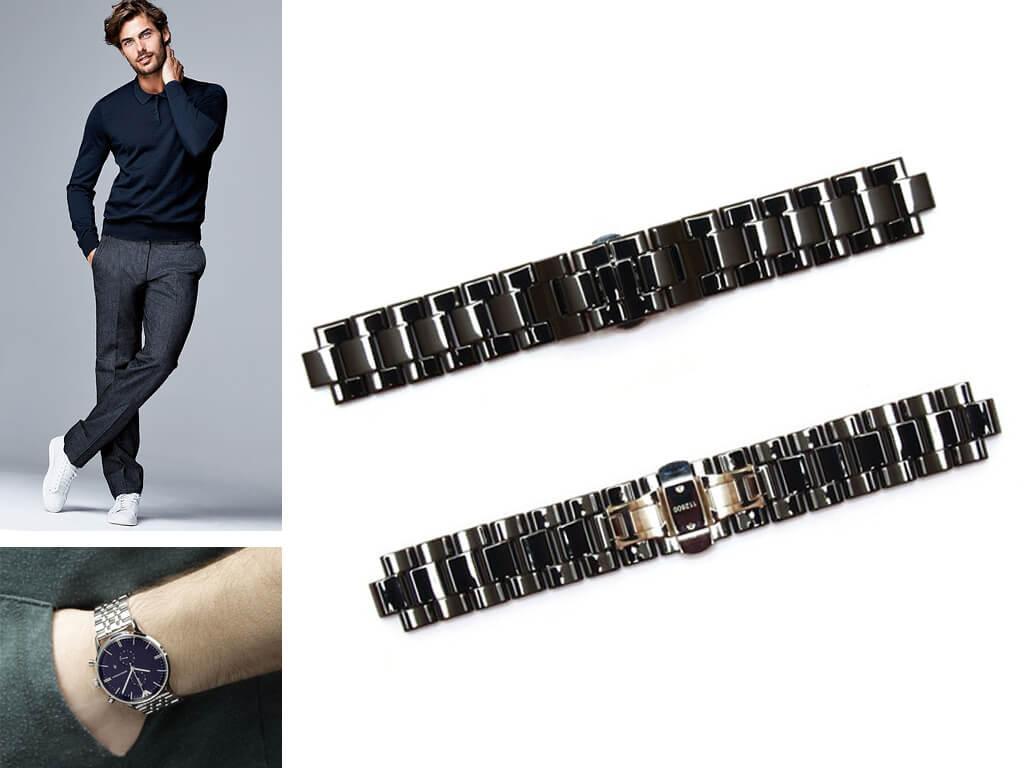 Браслеты для часов Армани - это надежность, качество и стильный дизайн