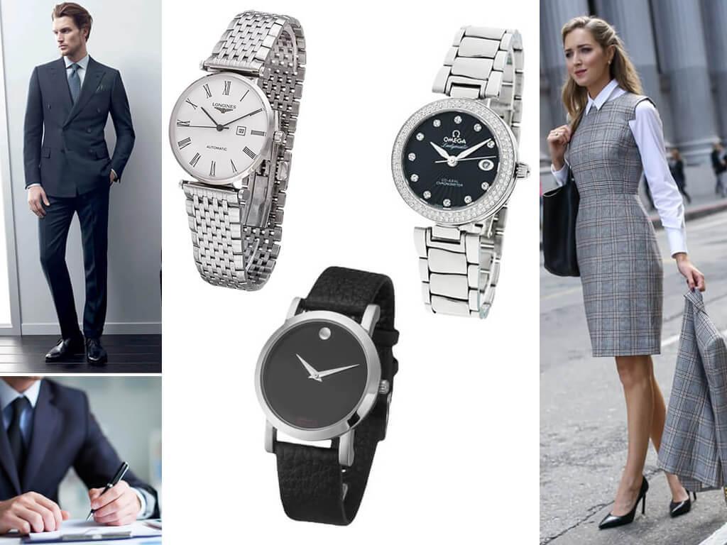 Классические женские и мужские часы
