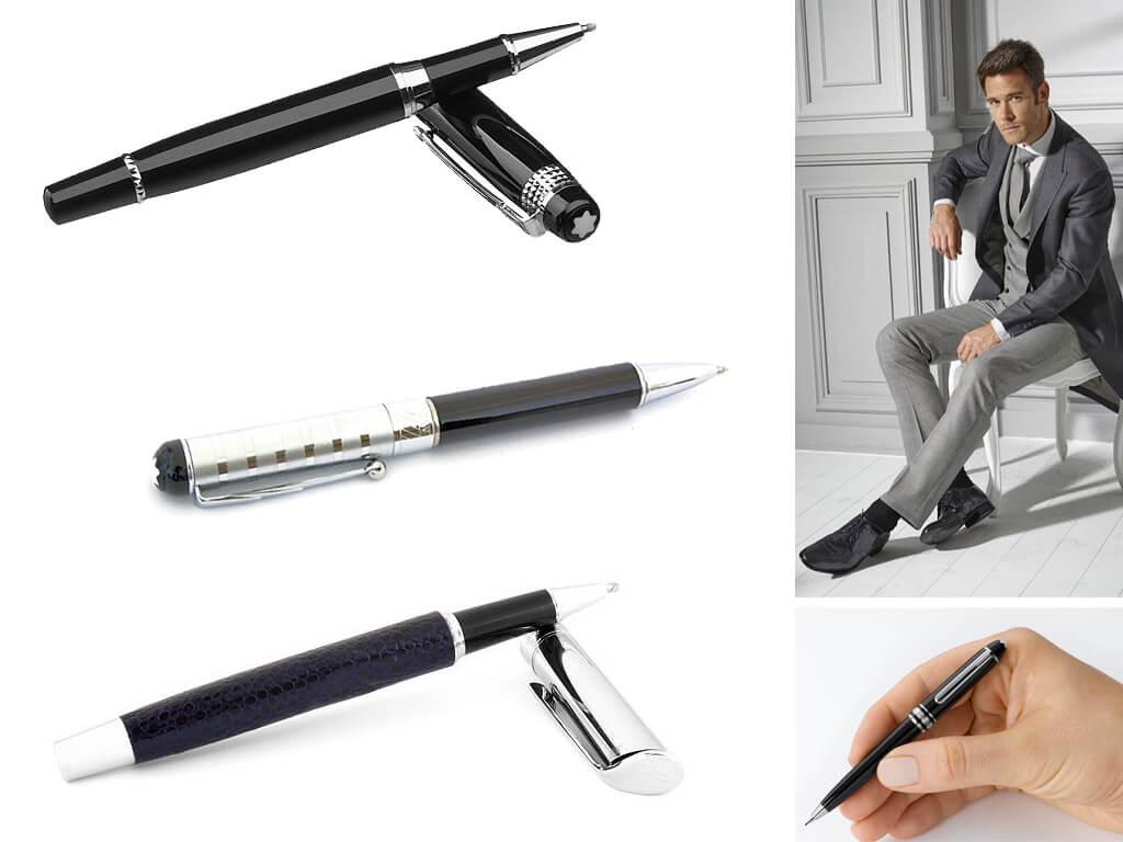 Фирменные черные ручки для мужчин и парней