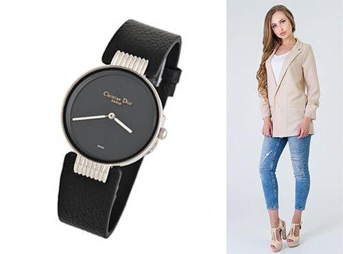 Женские часы Christian Dior с комбинированным стеклом sapflex glass