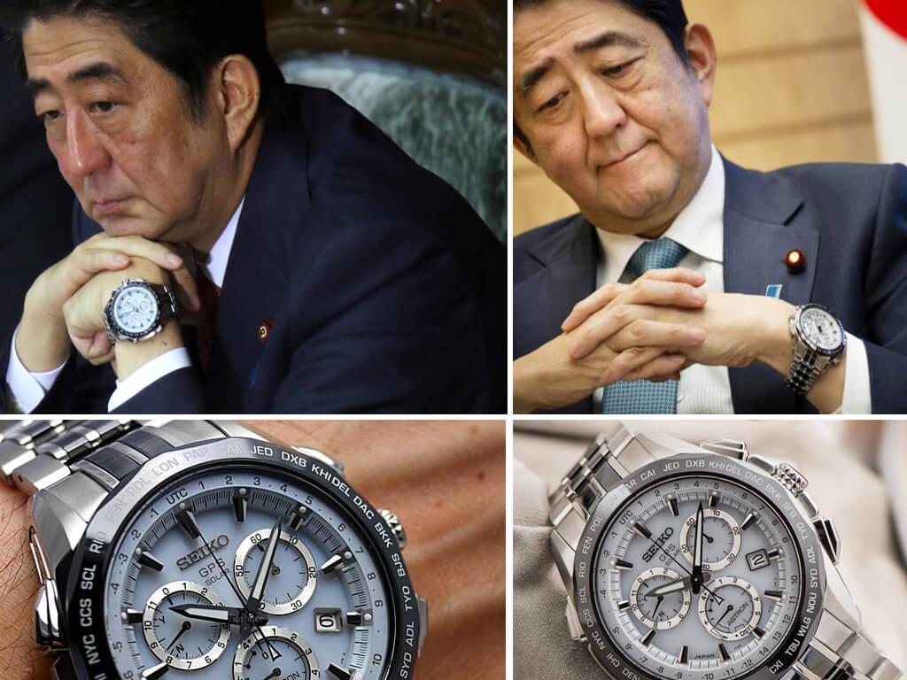 Премьер-министр Японии Синдзо Абэ носит только японские часы Сейко