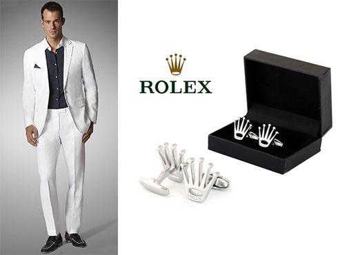 Запонки Rolex