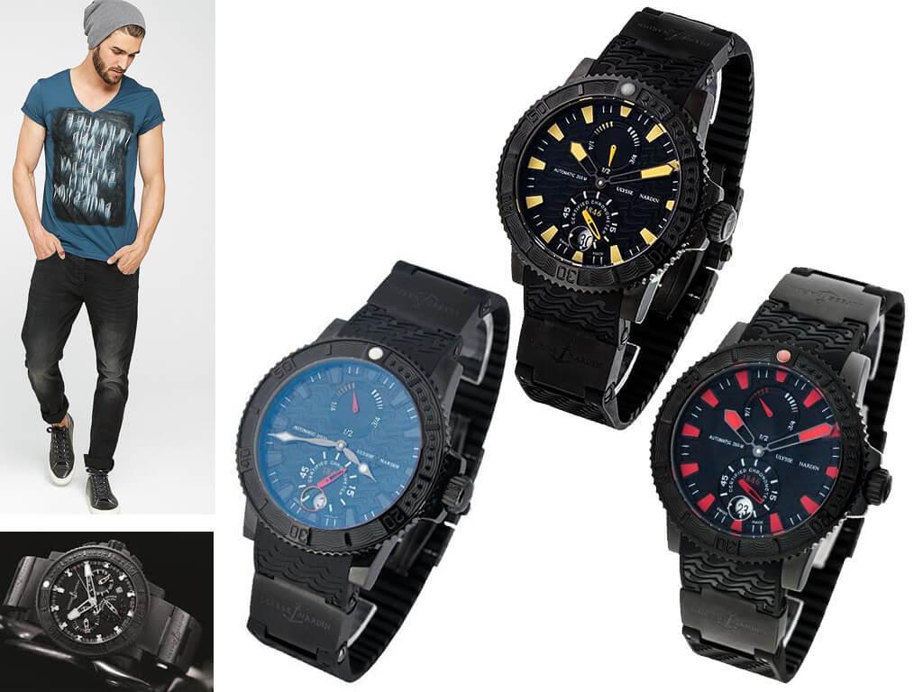 Мужские часы Ulysse Nardin Black Sea из коллекции Diver
