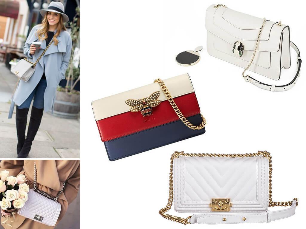 Стильные брендовые сумочки на цепочке