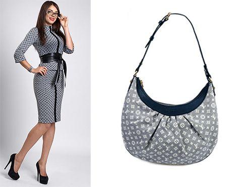 Текстильная сумка Луи Виттон женская