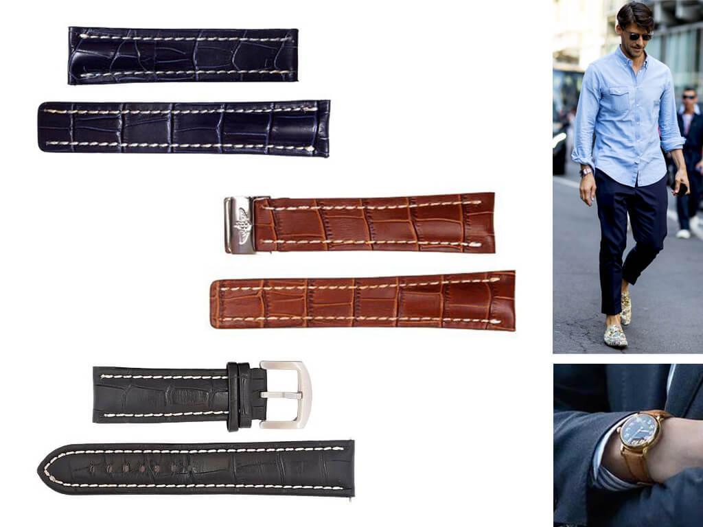 Кожаные браслеты Breitling