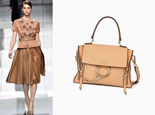 Женская сумка Chloe бежевого цвета