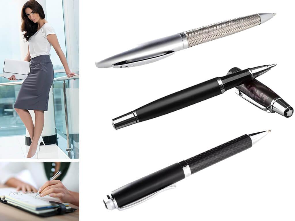 Мужские и женские ручки матовые серебристого цвета