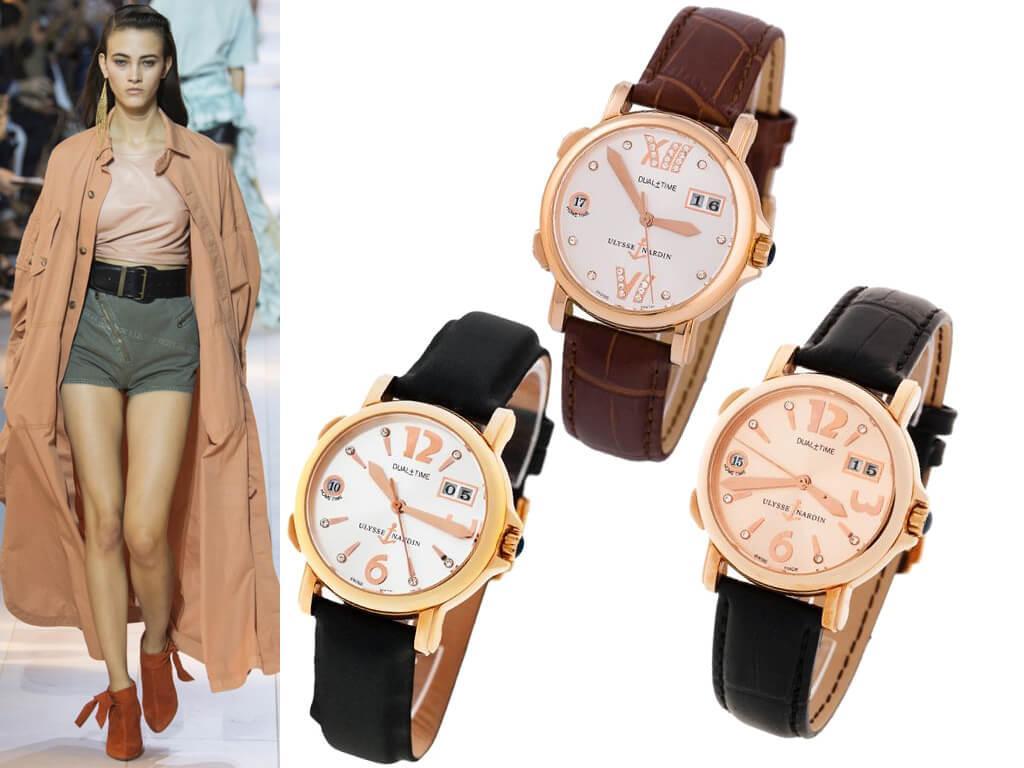 Женские наручные часы Ulysse Nardin Dual Time Lady Manufacture из коллекции Classic