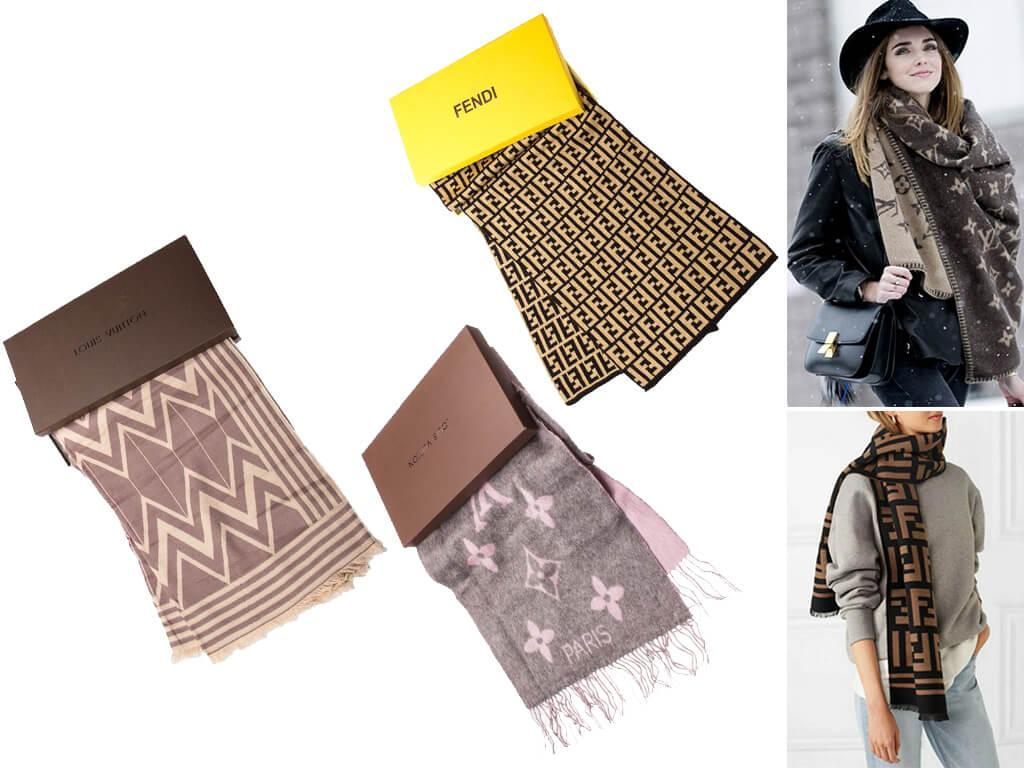 Шарфы брендовые женские есть в ассортименте и сделанные из другого вида натуральных тканей – кашемира.