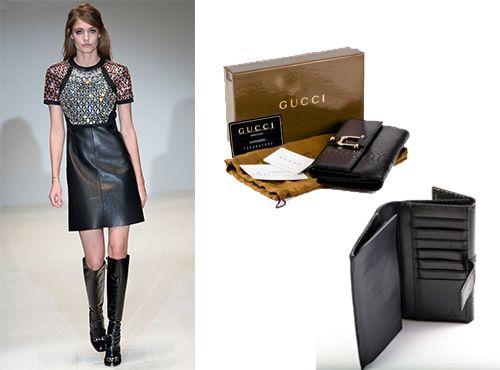 Женский кожаный кошелек Gucci