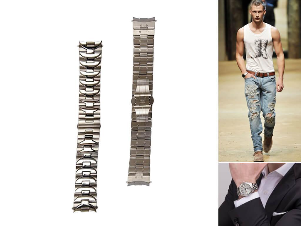 Браслет на часы Panerai может быть металлическим, керамическим, кожаным, каучуковым. У каждого материала - свои преимущества