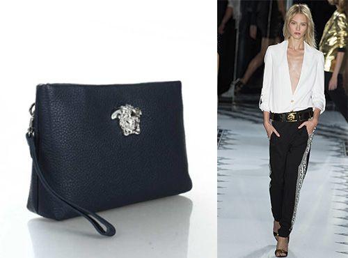 Женская клатч-сумка из кожи от Versace