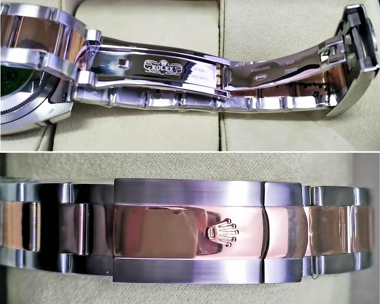 Застежка в реплике часов Rolex Oyster Perpetual Datejust 36mm Steel and Everose Gold