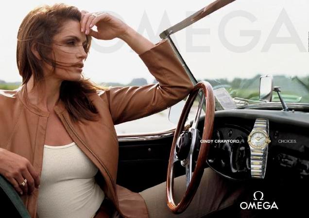 Синди Кроуфорд в рекламе часов Omega