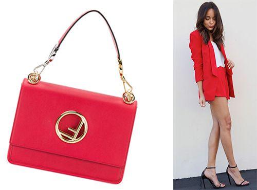 Женская сумка красного цвета от Fendi
