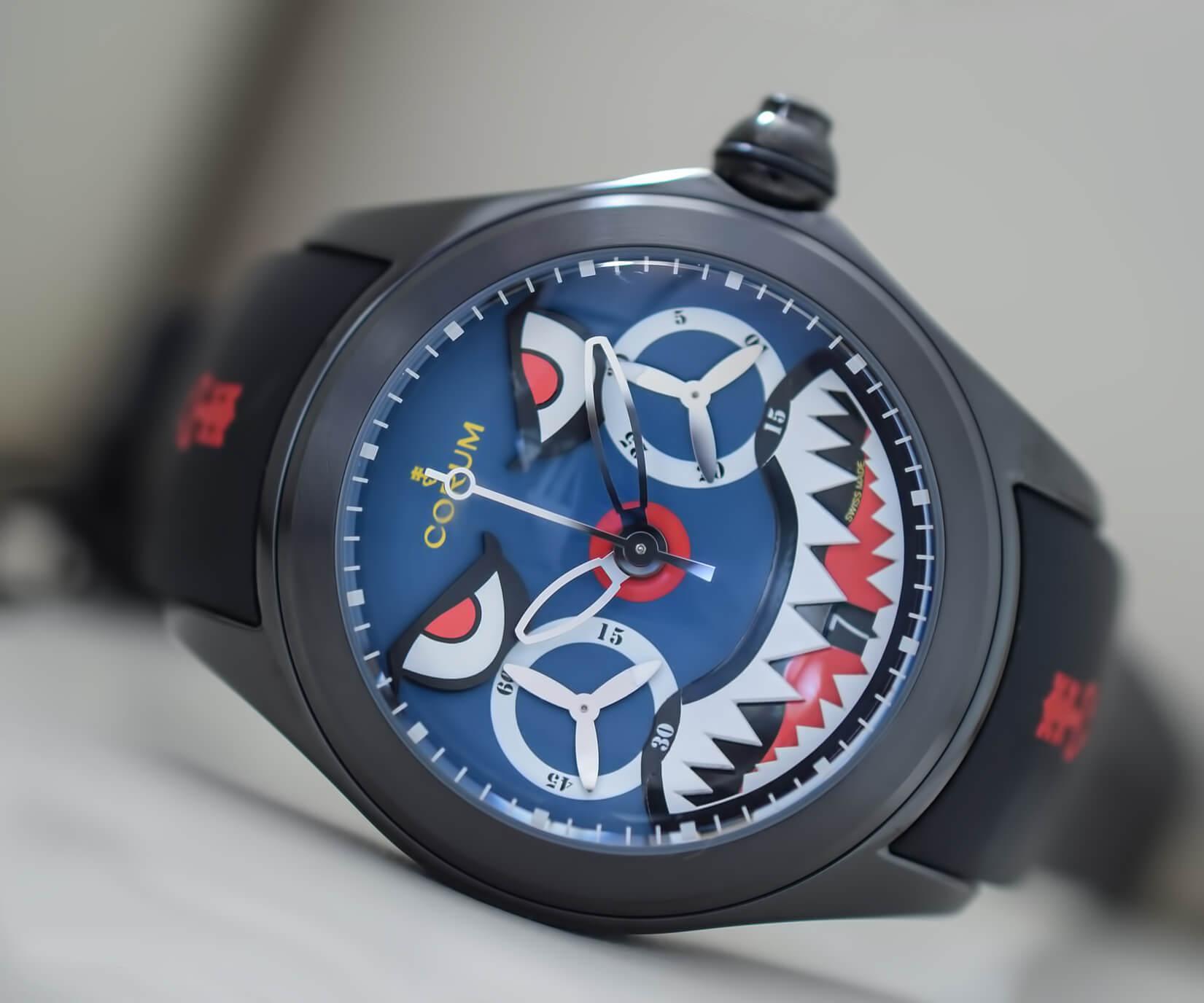 Мужские швейцарские часы Corum Bubble Shark Mono-Pusher Chronograph