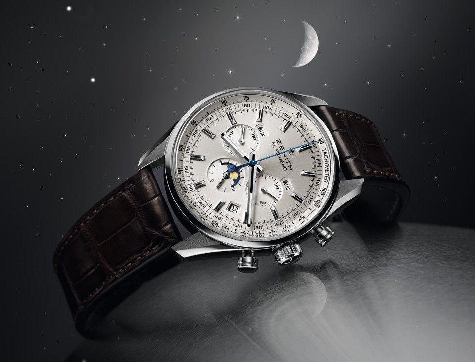 Часы от Zenith с лунным календарем