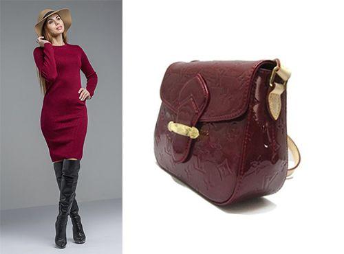 Бордовая женская сумка Louis Vuitton