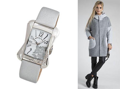 Женские часы Maurice Lacroix ремень серый