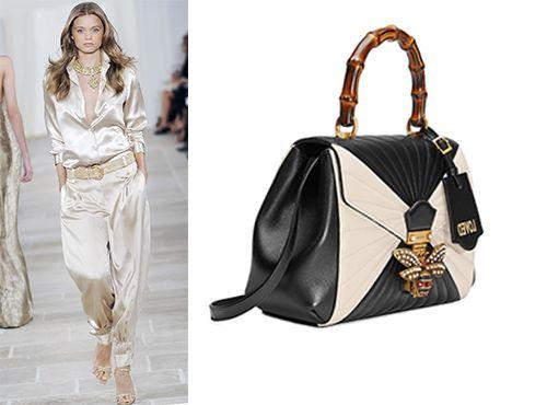 Женская сумка комбинированного цвета Gucci