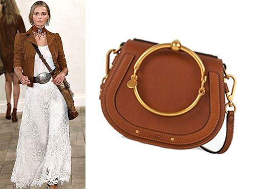 Женская сумка Chloe из натуральной кожи