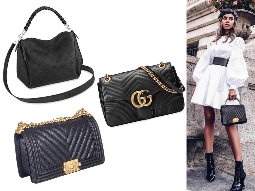 Женские сумки из кожи черного цвета