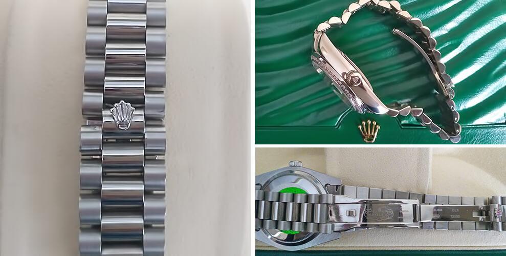 Браслет Oyster и застежка в реплике часов Rolex Datejust