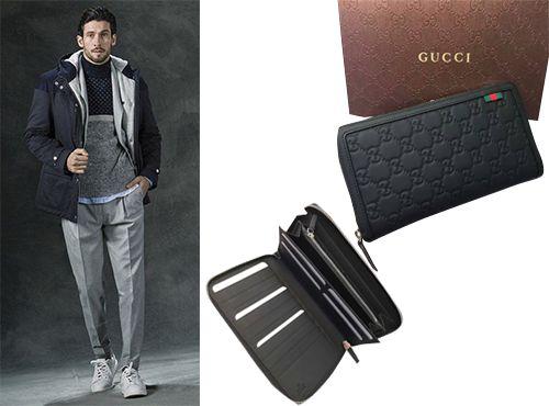 Мужской кошелек из кожи Gucci