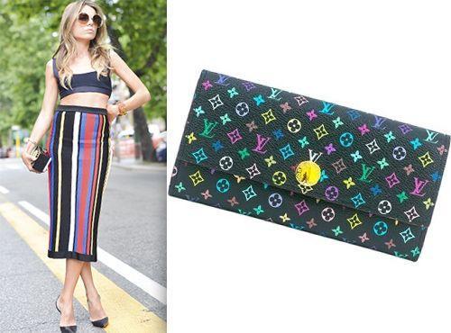 Клатч-сумка Louis Vuitton разноцветная