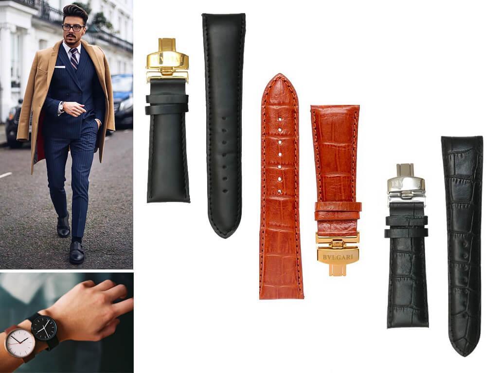 Ремень на часы Булгари - это эталон качества, стиля, комфорта