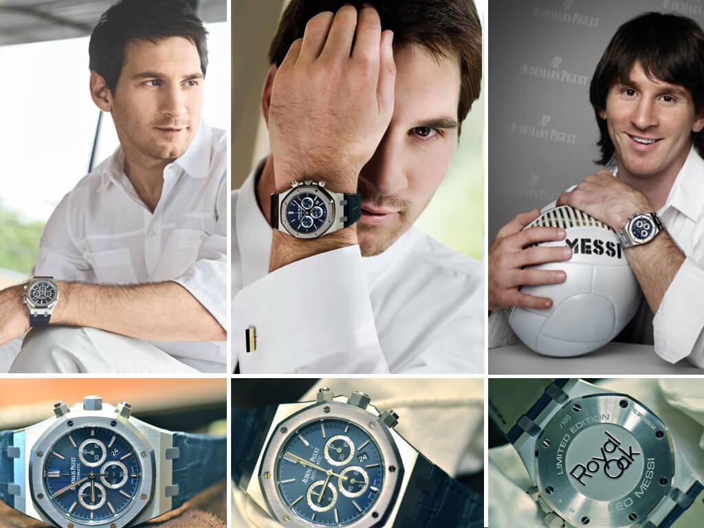 Лионель Месси и его часы Адемар Пиге