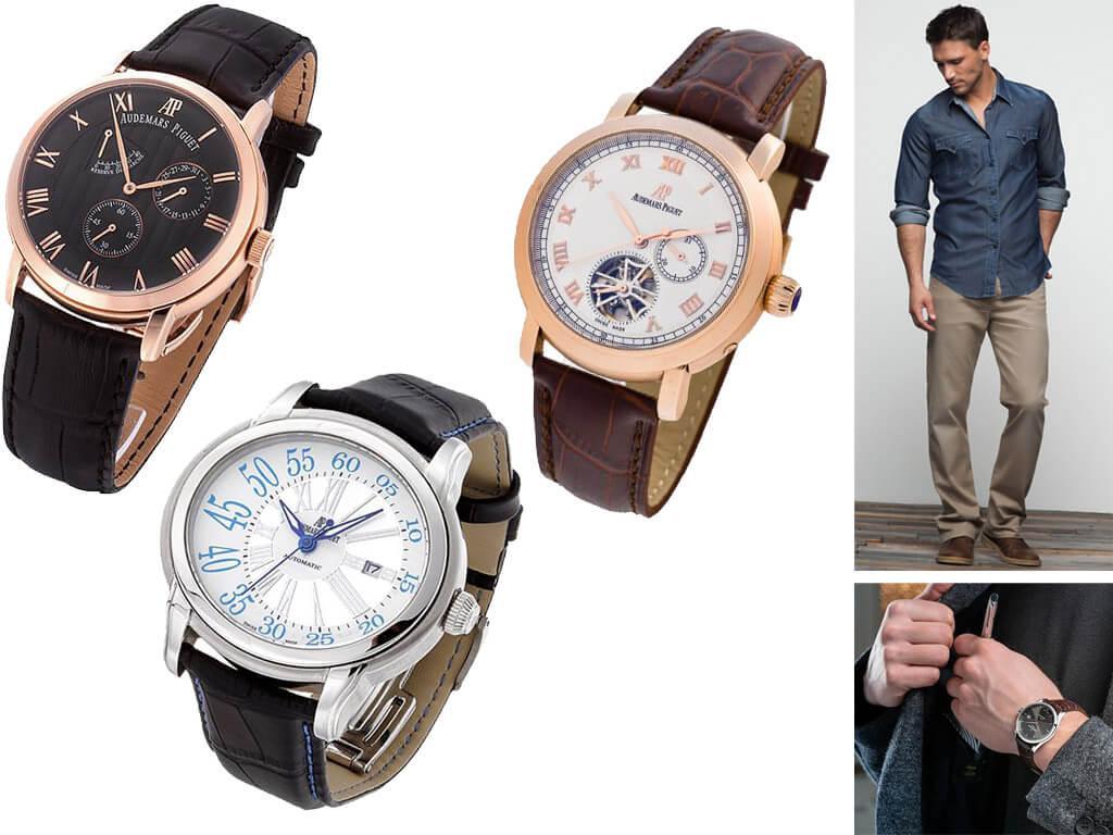 Мужские часы Audemars Piguet на ремешке