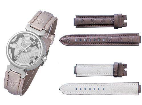 Бежевый ремень для часов Louis Vuitton