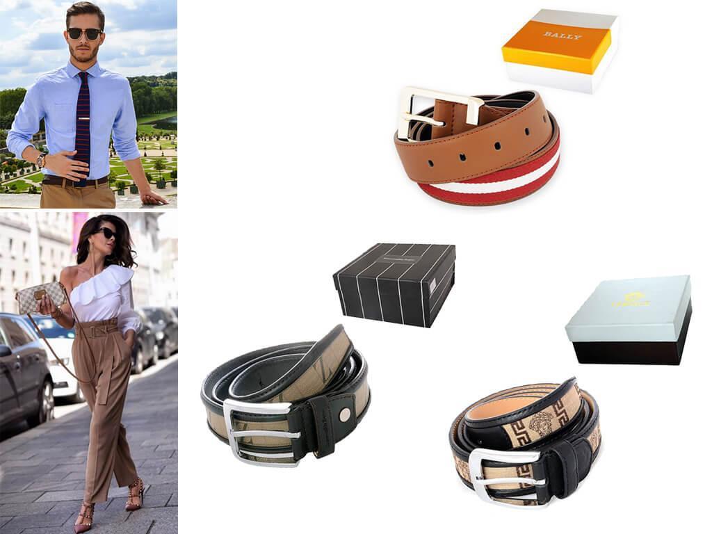 Ремень коричневый тканевый превосходно носится под повседневные и парадные штаны, если дизайн пояска соответствует формату лука.