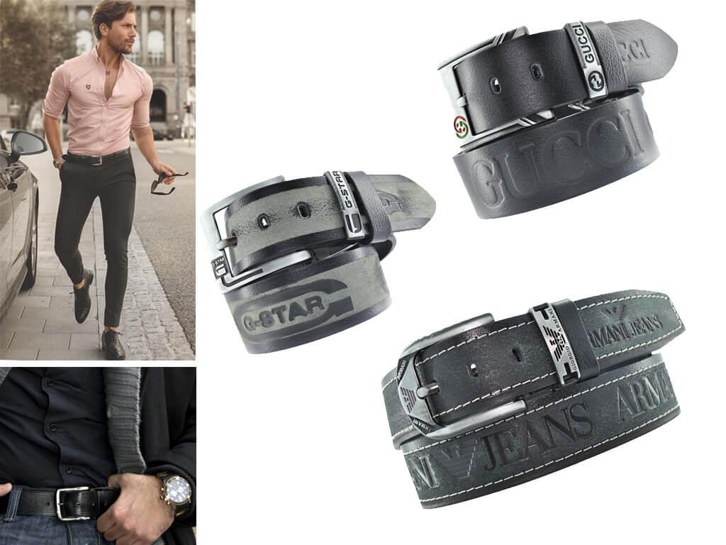 Ремень черный мужской - атрибут любого мужского гардероба