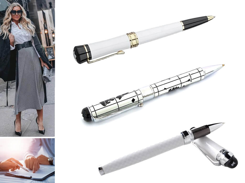 Брендовые ручки белые для женщин и девушек