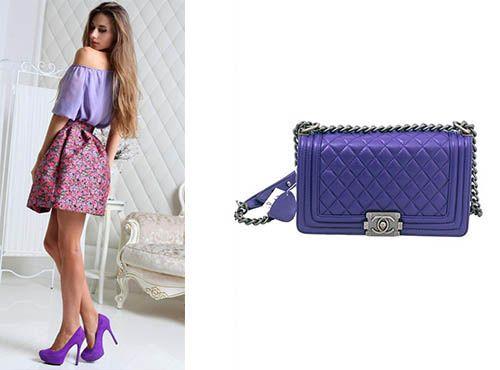 Кожаный клатч от Chanel