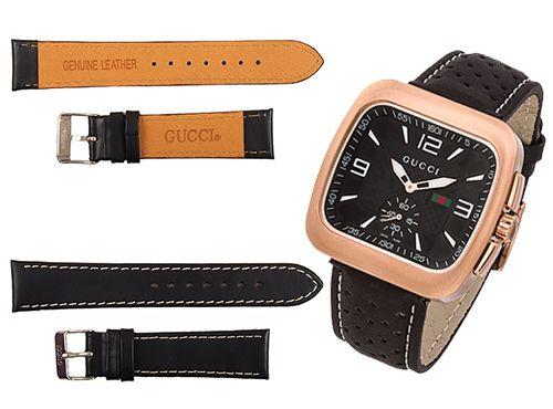 Ремни для часов Gucci из синтетической кожи