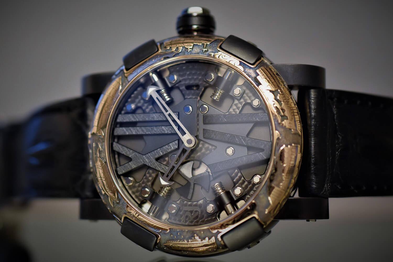Часы Romain Jerome Steampunk Black Auto Engraved