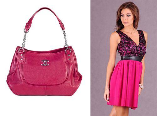 Женская сумка от Chanel розового цвета