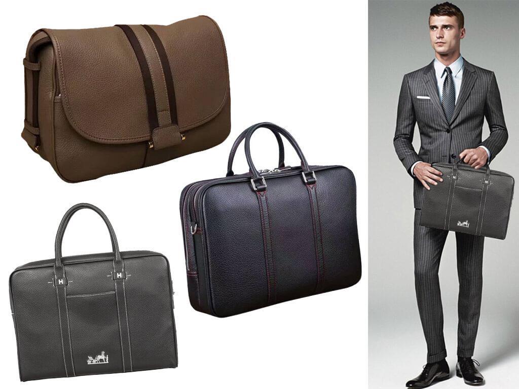 Мужские кожаные сумки Гермес