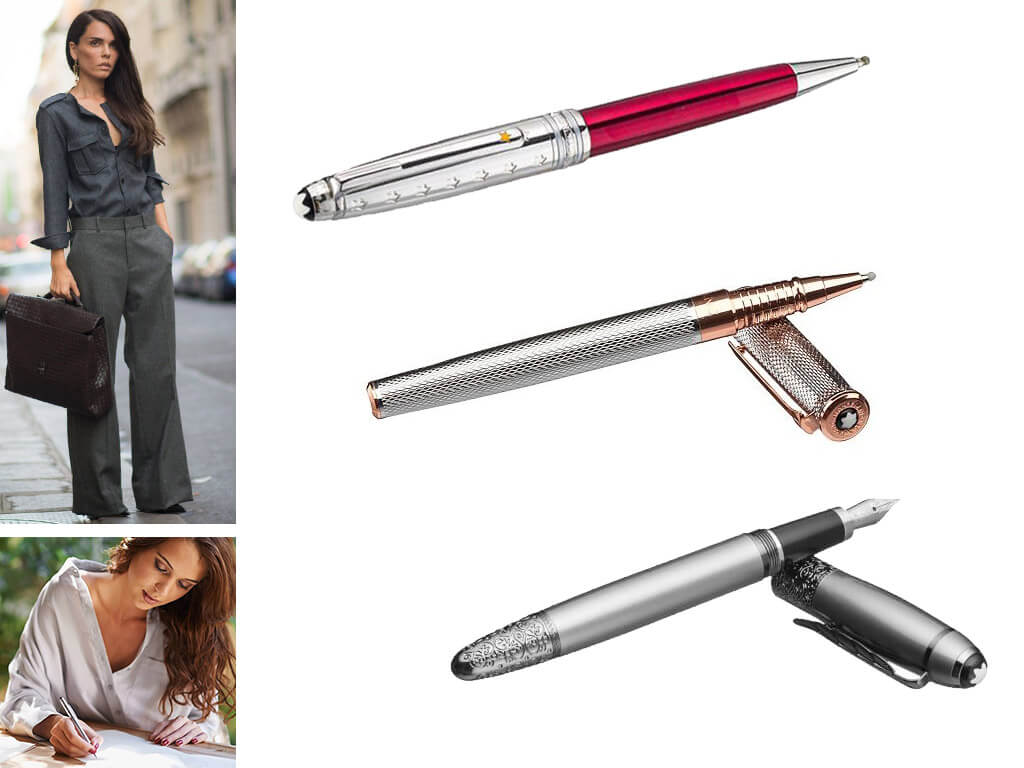 Женские брендовые ручки серебристого цвета