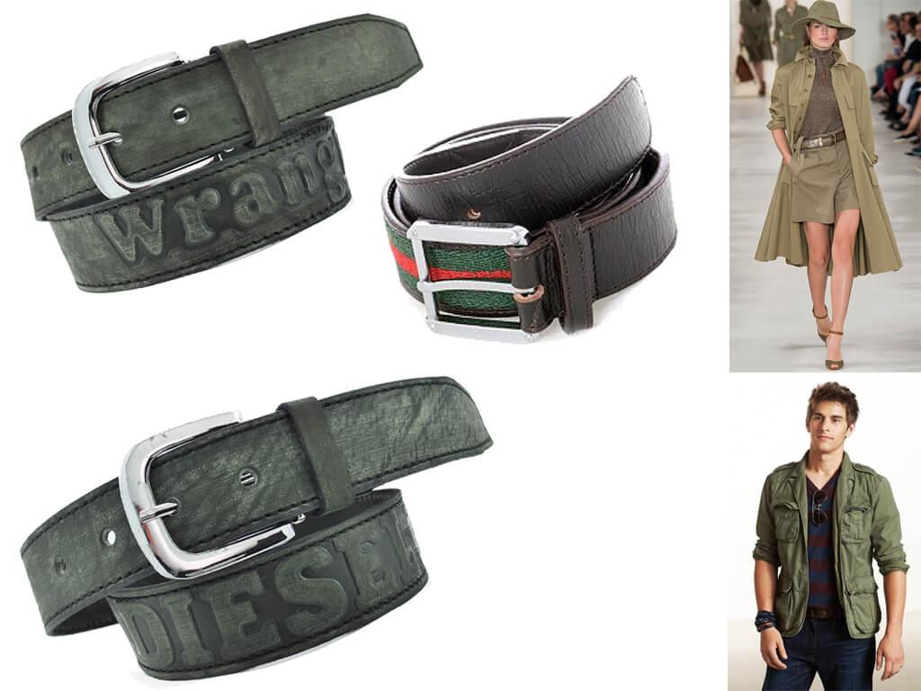 Зеленый кожаный ремень - стильный аксессуар и элемент самовыражения