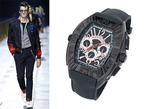 Мужские часы Franck Muller с циферблатом черного цвета