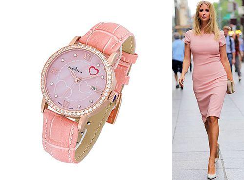 Часы Blancpain с розовым циферблатом