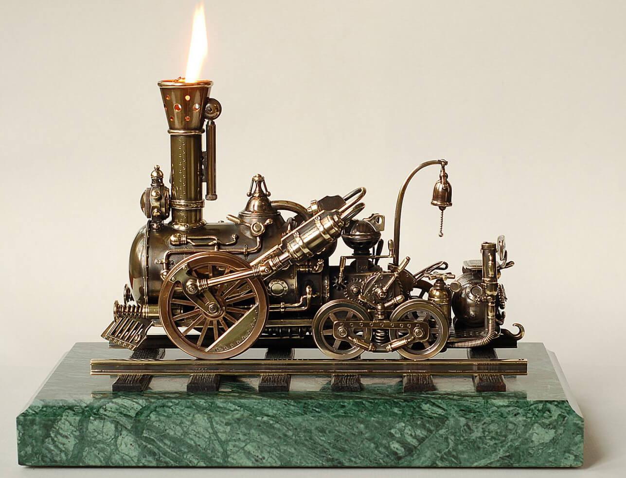 Настольная зажигалка - украшение интерьера рабочего кабинета