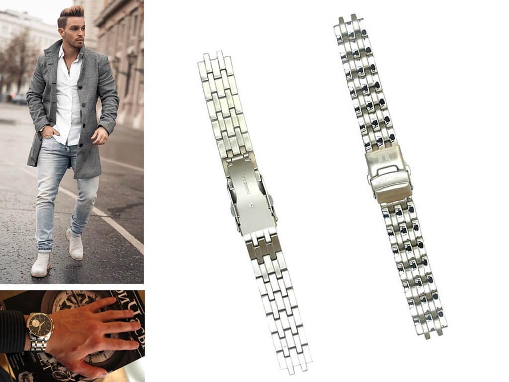Металлические браслеты на часы мужские Тиссот