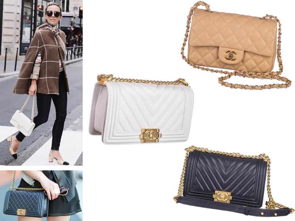 Кожаные сумки Шанель