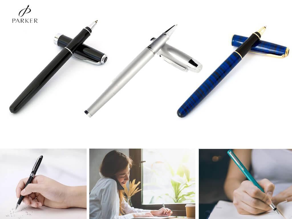 Шариковые ручки от компании Parker выглядят не менее статусно